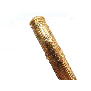 French Empire Tri-Colored 18k Gold Needle Case