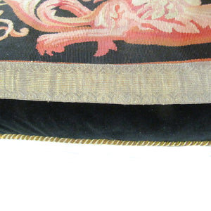Early 19th Century French Aubusson Tapestry Pillow Depicting Griffins and Urn