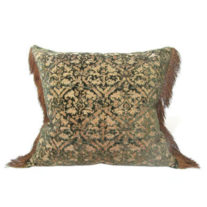 Early 19th Century German Silk Velvet Pillow of A 16th Century Italian Design
