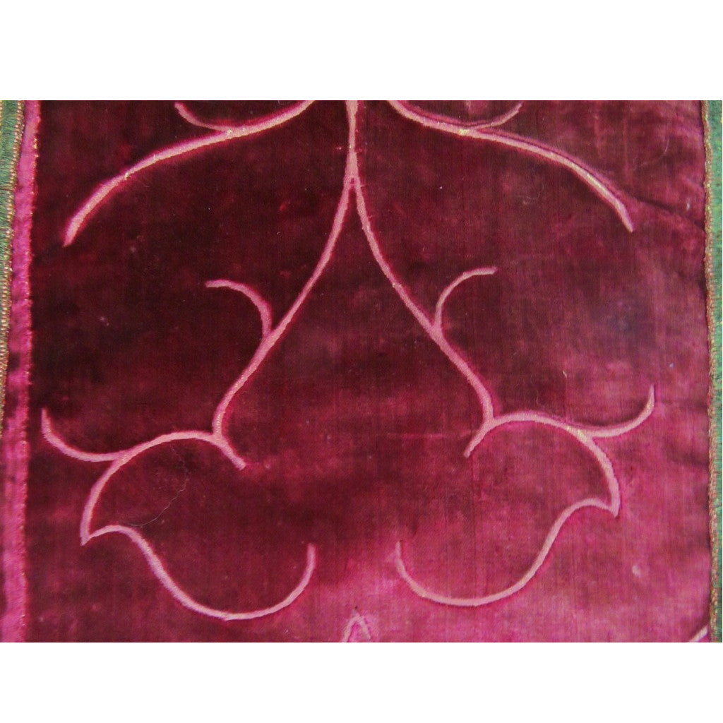 "Italy or Spain, ""Ferronnerie"" Red Silk Velvet Runner"