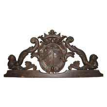 Italian 17th Century Hand Carved Over Door Pediment /Architectural Element