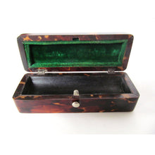 English Victorian Sterling Silver and Tortoise Shell Pin Box