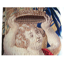 Pair of Belgian 18th Century Angel / Putti Tapestry Fragments