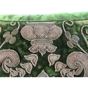 English or French, 17th Century, Metal Thread Appliqued Pillow