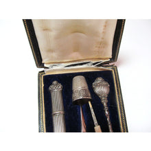 French 19th Century Sewing Case with 5pc Sterling Silver Tools