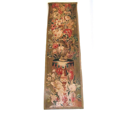 Late 18th Early 19th Century French Floral Tapestry Fragment