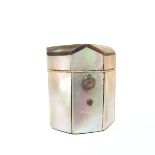 English 19th Century Mother-of-Pearl and Abalone Thimble Holder