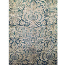 Rare, Early 1920's Fortuny in Blue/gray With Parchment Overlay