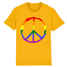 "Charger l'image dans la galerie, T-shirt ""Peace & Love LGBT"" 