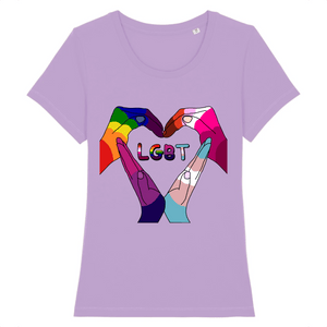 "T-shirt ""Cœur LGBT"" 