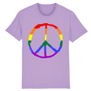 "T-shirt ""Peace & Love LGBT"" 