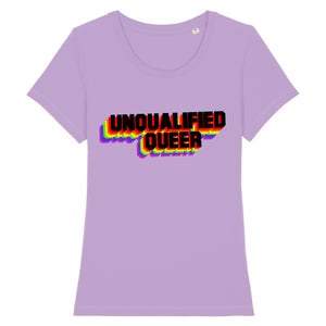 "T-shirt ""Unqualified Queer"" 