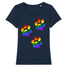 "Charger l'image dans la galerie, T-shirt ""Patte de Chat LGBT"" 