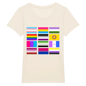 "Stanley Stella - Expresser - DTG - T-shirt ""Drapeaux"" 