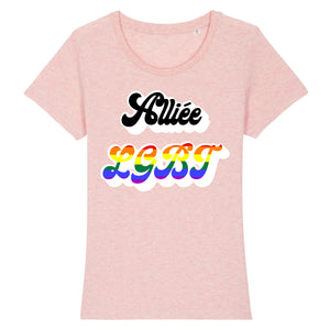 "T-shirt ""Alliée LGBT"" 