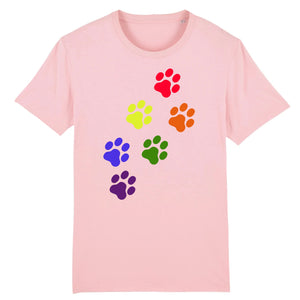 "T-shirt ""Empreintes de Chat LGBT"" 