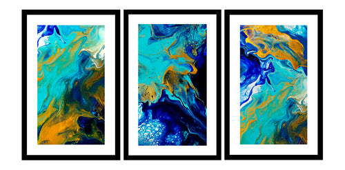 CUSTOM DESIGN FAMILY FOREVER TRIPTYCH  (3 MATCHING ARTWORKS)