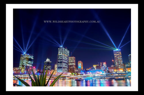 Nightscape - Riverfire City of Lights Festival & Santos Laser Light Show