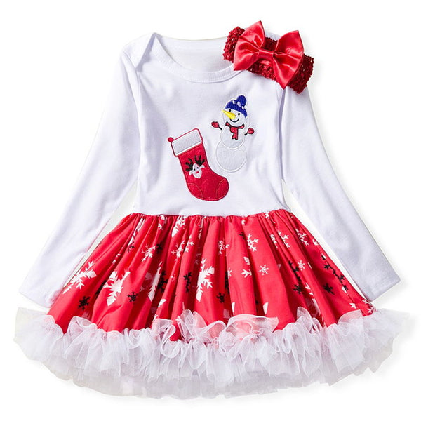 1a583b59d ... Newborn Girl My 1st Christmas Dresses Santa Cartoon Dress For Baby Girl  Winter New Year Party ...