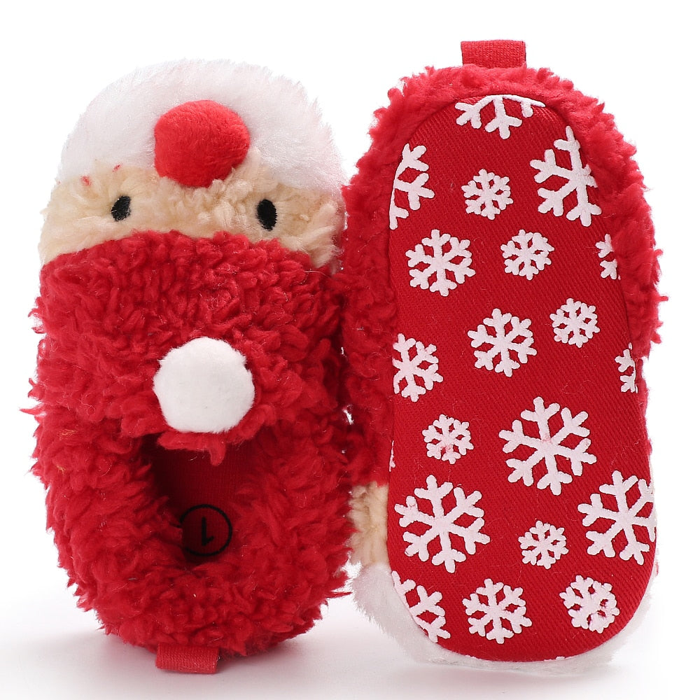 Christmas Shoes For Girls.Xmas Baby Shoes Girls Boy Moccasins First Walker Kids Red Santa Reindeer Sneakers Infant Booties Winter Toddler Christmas Boots