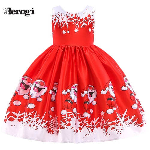 fb66fed86 Berngi New Year Girl Christmas Dress For 2-10 Years Girls Winter Snowman Holiday  Children