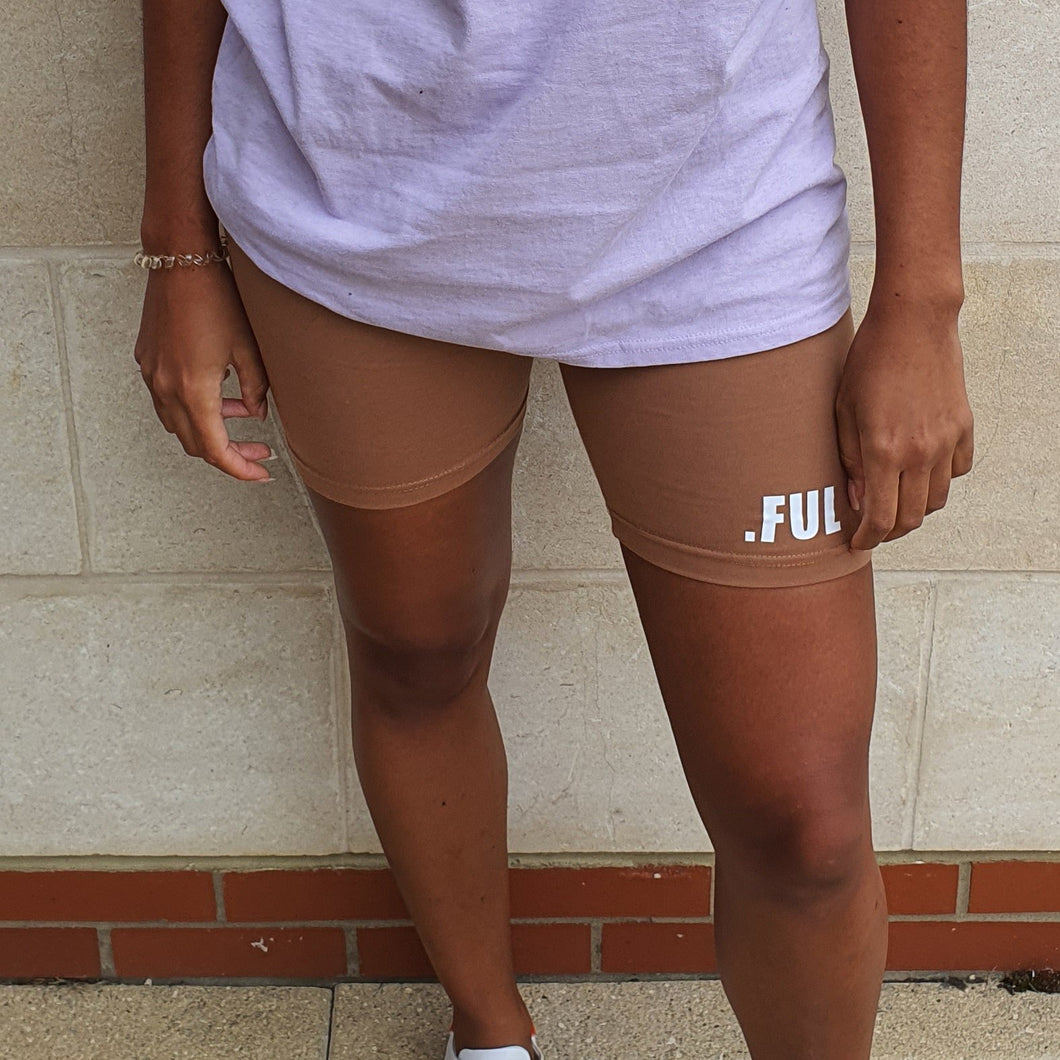 Bloom.FUL Khaki Brown Cycle Shorts