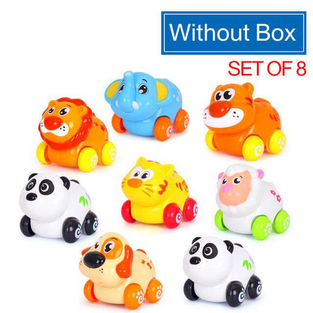 8-Piece Wheelie Animal Toy Set