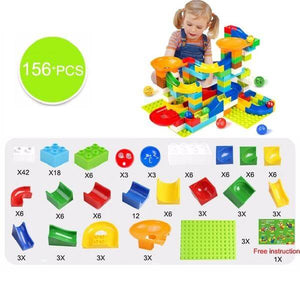 marble race track building blocks - 156 pcs