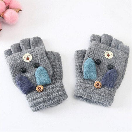 Flip-top mitten gloves