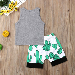 Cactus 2-Piece Tank Top and Shorts Set