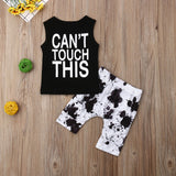 2 pc. Cactus Print Summer Outfit Set