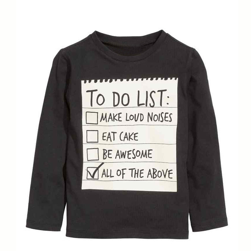 'To Do List' Long Sleeve Shirt and Jogger Pants Set