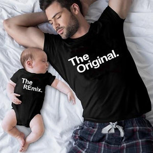 The Original and The Remix Shirt and Onesie Set