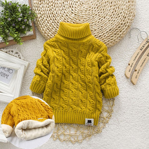 Plush Cable-Knit Turtleneck Sweater