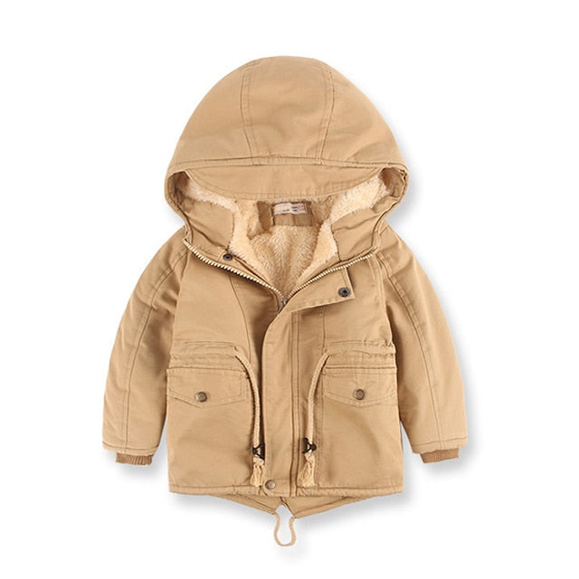 Hooded Fleece Children's Coat Windbreaker