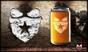 Banditos Mask Beer Can Glass