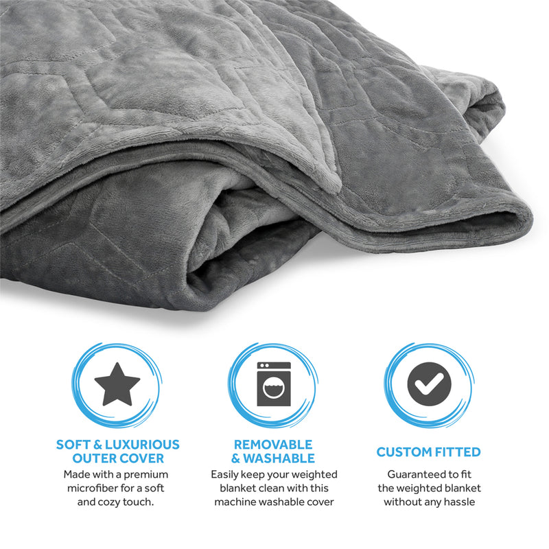 Aura Premium Weighted Blanket Cotton with Supersoft Minky Removable Cover