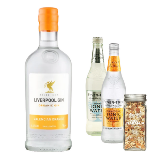 Liverpool Gin Valencian Orange inklusiv Fever-Tree Tonics