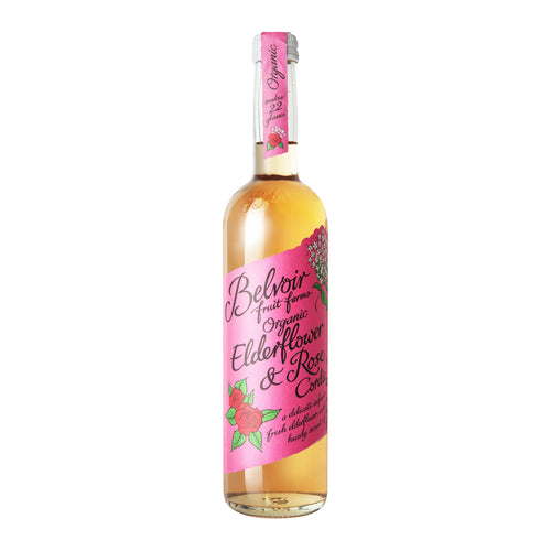 Belvoir Cordials: Organic Elderflower & Rose Cordial 50 cl