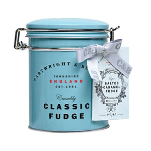 Cartwright & Butler Fudge: Salted Caramel Fudge in Tin 175 g
