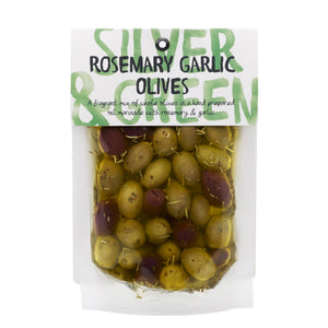 Silver & Green Olives: Rosemary Garlic Olives 220 g