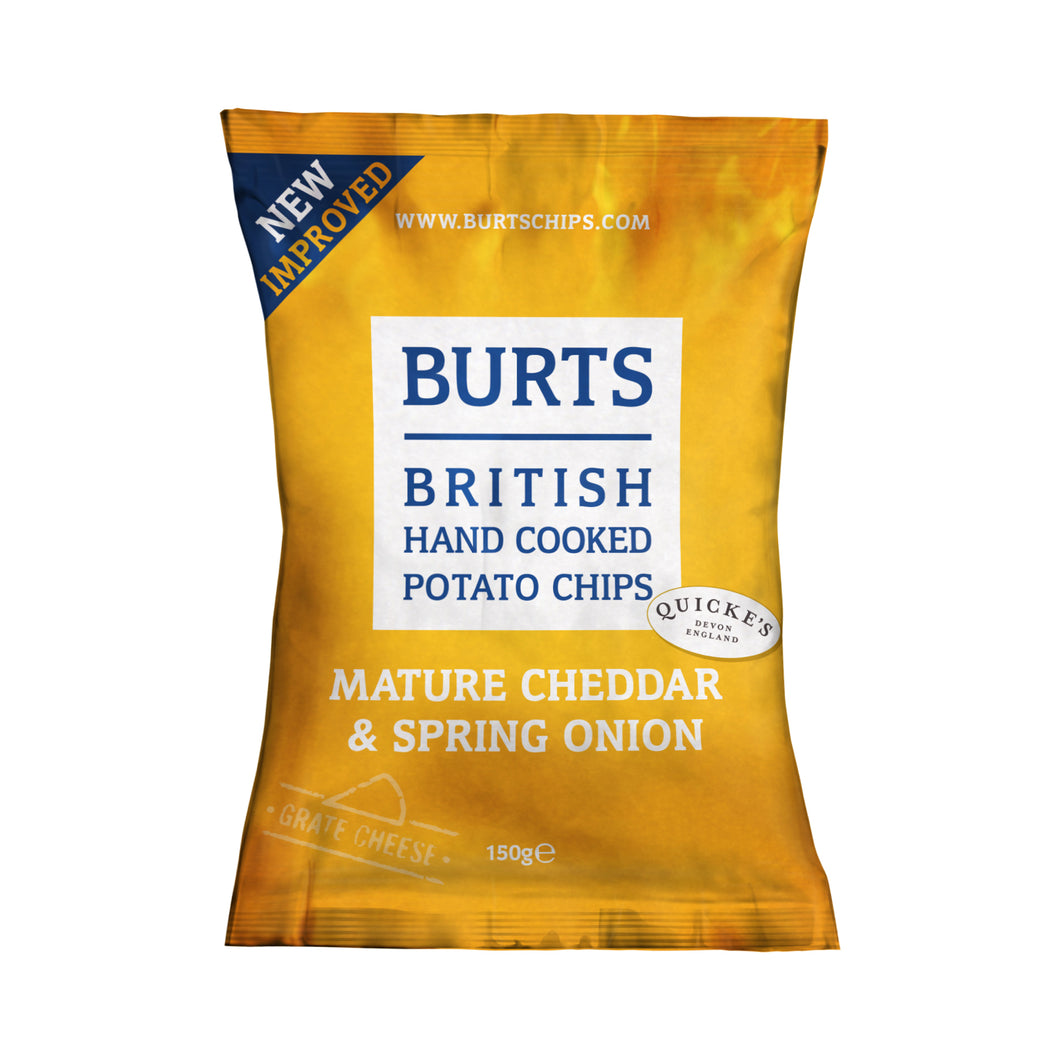 Burts Chips: Mature Cheddar & Spring Onion 150 g