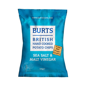Burts Chips: Sea Salt & Malted Vinegar 150 g