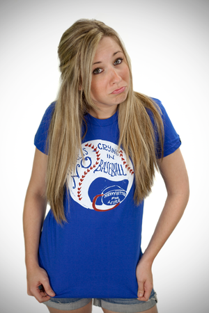Womens No Crying In Baseball Tee