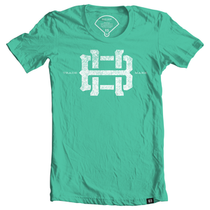 Mint Womens Baseball Tee