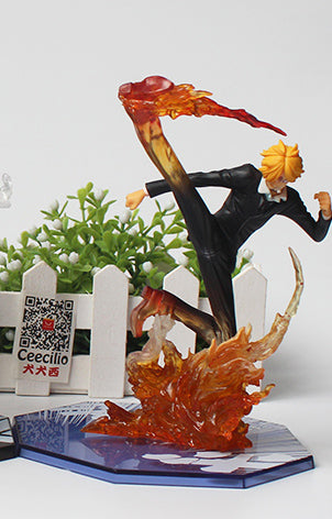 Sanji Black Leg Battle Mode - One Piece Action Figure - Anime Printed