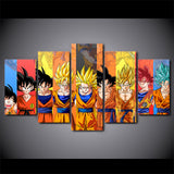 Goku's Life - Dragon Ball Canvas Printed Wall Poster - Anime Printed