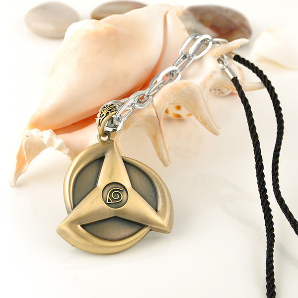 Konoha Emblem Metal Necklace - Anime Printed