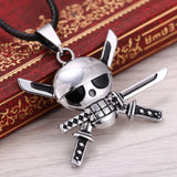 Zoro Pirates Emblem - One Piece Necklace - Anime Printed