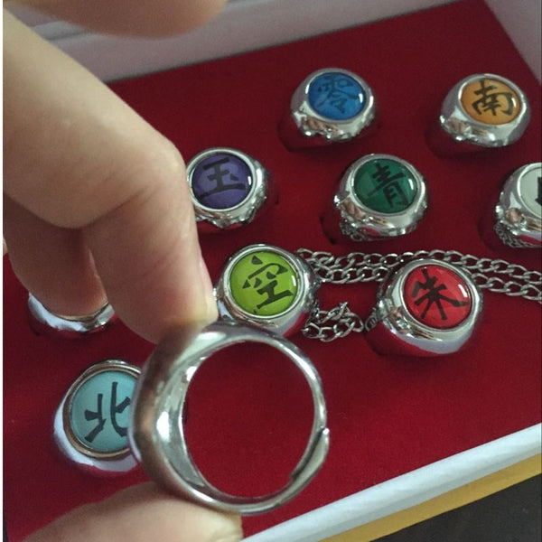 Akatsuki Member Rings (10pc) - Anime Printed